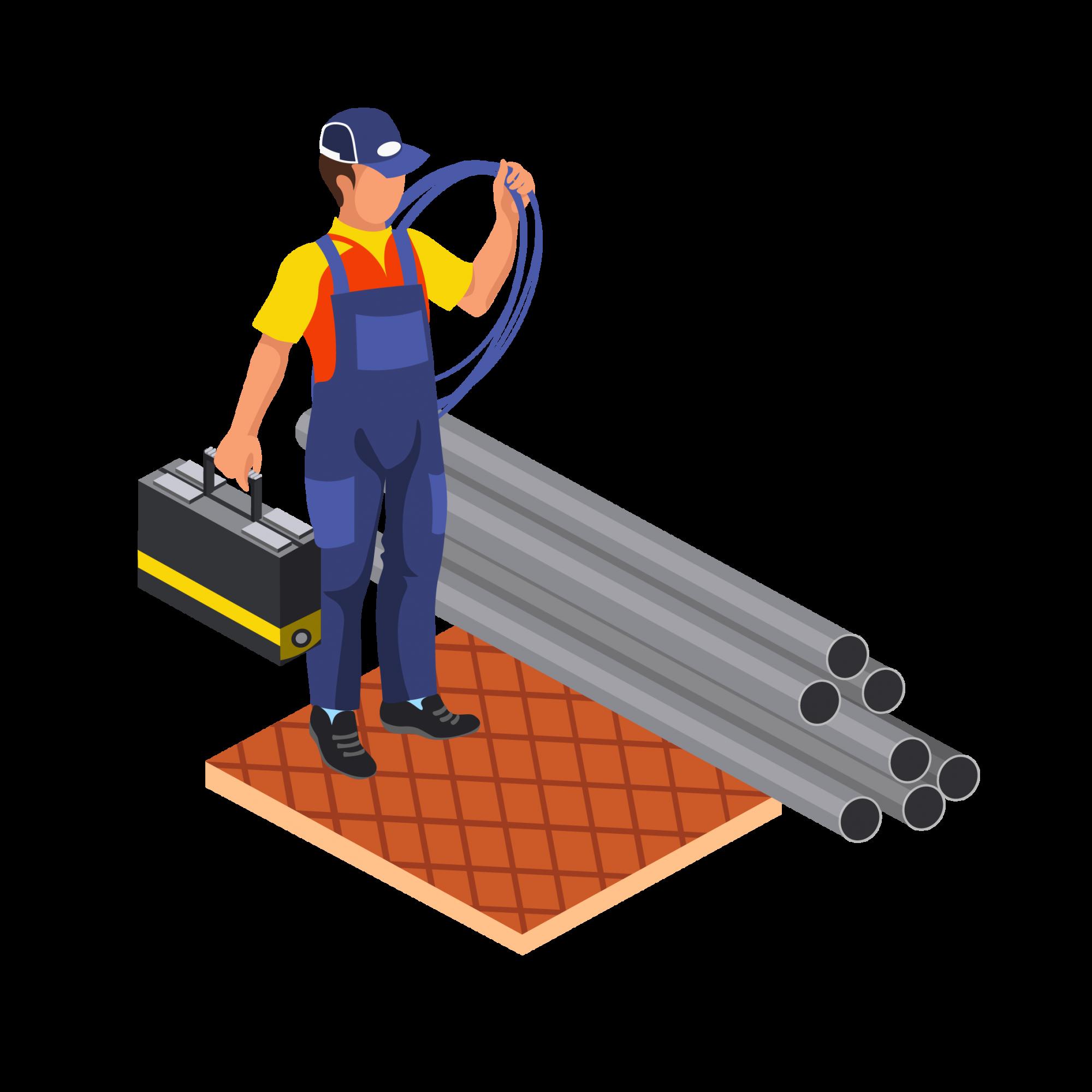 —Pngtree—water pipe plumber worker overhaul_3921699